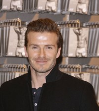 David Beckham at H&M Store in Berlin, Germany