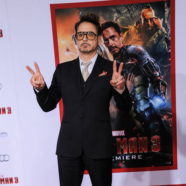Robert Downey Jr. at the Iron Man 3 premiere in LA