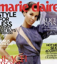 Alicia Keys on Marie Claire cover
