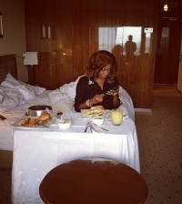 Chika Ike in hotel room