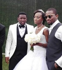 dbanj at sister wedding