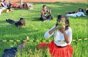 pastor tells members to eat grass